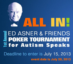 Image: Ed Asner & Friends poker tournament for Autism Speaks.
