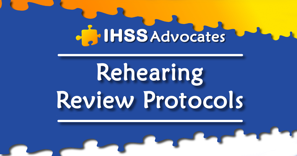 Rehearing Review Process/Protocols
