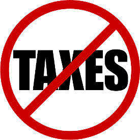 Image of no taxes symbol