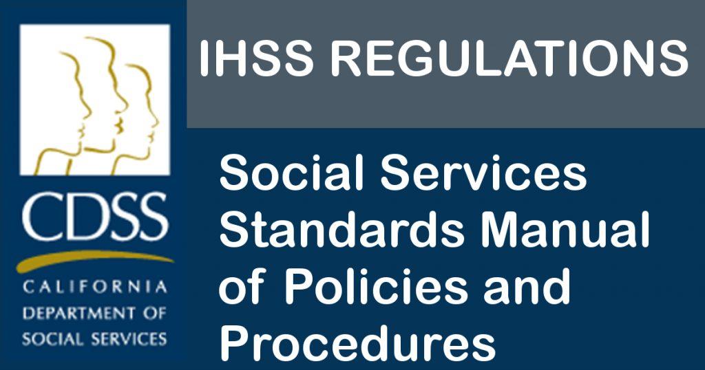 IHSS Advocates - CDSS Manual of Policies & Procedures