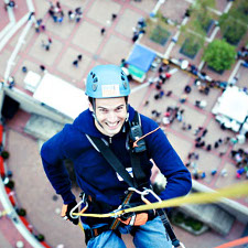 Image: Over the edge with autism speaks